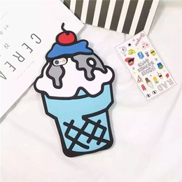Wholesale Wholesale 3d Cell Phone Cases - 3D Ice Cream Cartoon Cell Phone Case Sillicone Mobile Phone Case Wholesale for 7 Plus G530