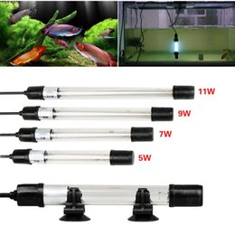 Wholesale Uv Sterilizer Filter - New Arrival UV Sterilizer Lamp Light Ultraviolet Filter Waterproof Water Cleaner For Aquarium Pond Coral Fish Tank 5W 7W 9W 11W