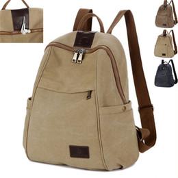 Wholesale Model Girl Backpack Bags - New retro tide girls outdoor canvas backpack bag fashion shoulder bag men models large travel package YM0076