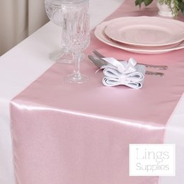 Wholesale Lavender Table Cloths - 2017 New Pink,Lavender Table Cloth Wedding Accessories 35*275cm Long Table Clothes Gold,Satin Fabric Cheap Ruropean Style