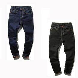 Wholesale Plus Tall - Wholesale-Jeans Men 2016 Autumn Simple Black  Blue Skinny Jeans Men Stretch Jeans Big Tall Trousers Feet Pants Long Jeans for Mens PT10