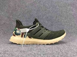 Wholesale Custom Size Canvas Prints - Ultra Boost Custom Mens Ultra Boost 3.0 Green for sale high quality Size 40-45 Come With Box