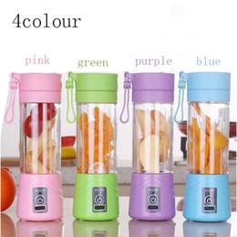 Wholesale Juicer Machines - Electric Blender Juicer Machine 4 Colors Mini Portable USB Rechargeable Smoothie Maker Blender Shake And Take Juice Slow Juicer Cup Kitchen