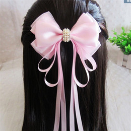 Wholesale Diamante Hair Bow - Multi Colors Bows Hair Pin for Kids Girls Children Accessories Baby Girl Hair bowknot with Clips Diamante clip