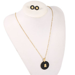 Wholesale Style Necklace Sets - TL Stainless Steel Bear Jewelry Set Classic Style High Quality For Women Black Popular Hot Selling