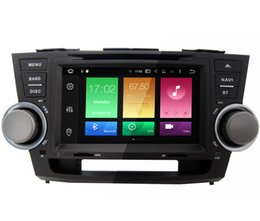 "Wholesale Toyota Double Din Radio - 8"" Android 6.0 System Car DVD Double Din For Toyota Highlander 2007-2011 GPS Multimedia Player Octa Core 2G RAM 32G ROM Head Unit Stereo"