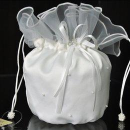 Wholesale Бесплатная доставка Новые Принадлежности Свадебные аксессуары Свадебные вышитый бисером мешок мешок благородный мешок белого цвета сапог слоновой кости