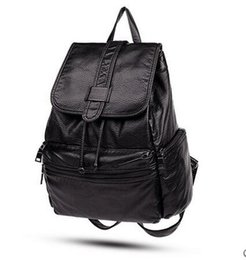 Wholesale College Bags Trend - Shoulder bag handbags new Korean fashion trend soft leather wild leisure travel backpack college wind students bag