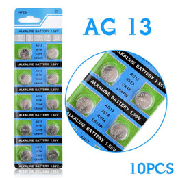 Wholesale Cell Battery Ag13 Lr44 - Hot selling 10 Pcs AG13 LR44 357A S76E G13 Button Coin Cell Battery Batteries 1.55V Alkaline EE6214