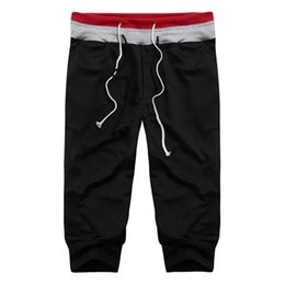 Wholesale Leisure Baggy Trousers - Wholesale-4 Colors New 2016 Mens Casual Joggers Baggy Harem Pants Male Leisure Loose Short Trousers Size M L XL XXL