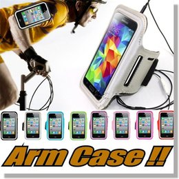 Wholesale Sports Running Armband - Arm case Armband cases for iPhone 6 6s Workout Sports Armband Running Gym Case For Samsung Note 7 S7 S7 Edge S6 edge cases iPhone 7 plus