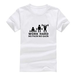 Wholesale Unique Work - Work hard 2017 New Clothes Fashion Man Casual T-Shirt Cotton O Neck Short Sleeve Loose Personalized unique Male Tops Tees Wholesale