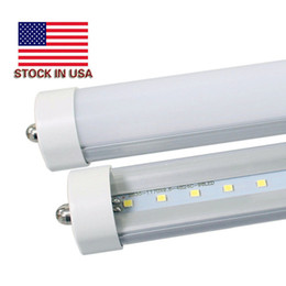 Wholesale Wholesale T8 Fluorescent Light Fixtures - LED Tube Lights 8ft 6500K 45W Single Pin FA8 LED Tubes T8 8 ft Fixture 8 feeet LED Fluorescent Lamp AC85-265V