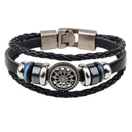 Wholesale Gear Love - Steampunk Men Simple Bracelet Friendship Love Jewelry Bike Gear Wheel Charm Bracelet Pure Leather Cord Bracelet Men Accesories Birthday Gift