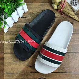 Wholesale White Flat Sandals - 2017 Hot sale sandals men huaraches flip flops slippers black white loafers beach slides sandals us size 7-11