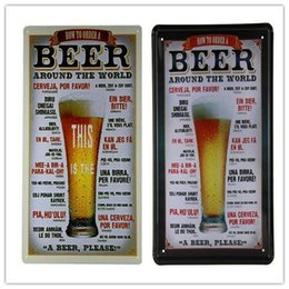 """Wholesale Order Beer Wholesale - """"Beer Around the World"""" How to Order, Metal Tin Sign, Home Decor, Bar, Pub 20161005#"""