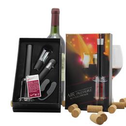 Wholesale Wine Bottle Vacuum Cork - Custom logo Wine Accessory Tool Kit Wedding Gift Set (Air Pressure Cork Remover Wine Opener Vacuum Stopper Bottle Pour Spout Foil Cutter)
