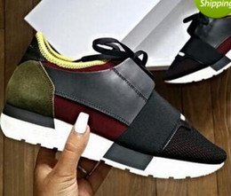 Wholesale Canvas Shoes Brands - 2017 arrive Designer Brand sports shoes running sneakers trainers casual shoes Men Women Breathable mesh Shoes size 36-46