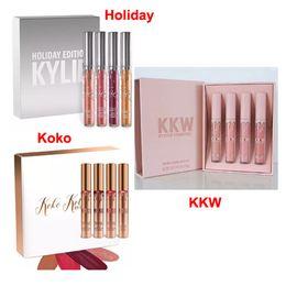 Wholesale Make Up Free Shipping Dhl - kylie Koko Kollection kylie kkw x collaboration kylie holiday lipstick make up lip gloss set makeup lipstick DHL free shipping
