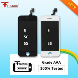 Wholesale Iphone 5c Screen Replacement White - for iPhone 5S 5C 5 LCD Screen Display with Touch Screen Digitizer Full Assembly Free Shipping Black White Replacement Screens