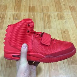 Wholesale Athletic Shoe Bag - Kanye West 2 SP Red October Sports Shoes With Original Packages With Dust Bag Mens Sneakers Kanye West II 2 boost Glow Dark Outdoor Athletic