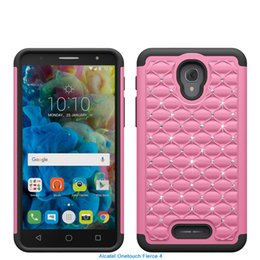 Wholesale One Touch Pc - Super Diamond Phone Case For Alcatel steller One Touch Fierce 4 5027 Silicone+ PC + TPU Anti-shock Dirt-resistant Cases