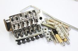 Wholesale Floyd Rose Tremolo Bridge System - 1 pkg Licensed Floyd Rose chrome Guitar Tremolo Bridge Parts System New