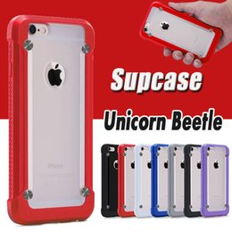 Wholesale Unicorn Beetle Series Iphone - Supcase Unicorn Beetle PRO Series Bumper Case Robot Hybrid Heavy Duty Shockproof Cover For iPhone 6 6S Plus SE 5S 5 Samsung S7 Edge Note 5