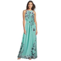 Wholesale Wholesale Girls Size Sundresses - Wholesale- Fashion Flora Printing Maxi Dresses Long Chiffon Sundresses Women Summer Female Girl Boheminan Dress Plus Size 6XL