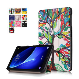 Wholesale Leather Covers For Tablets - Tablet Case For Samsung Galaxy Tab A T580N Case Slim Lightweight Folio Standing Cover Premium Ultra Thin Tablet Cover