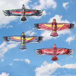 Wholesale Huge Birds - Wholesale- 150*56cm Fun Outdoor Sport Beach Kite Huge Big Eagle Animal Bird Kites Child Children Toy Random Color High Quality