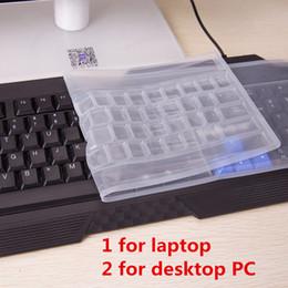 Wholesale Dustproof Computer Keyboards - 2 Types Electronic Laptop Desktop Computers Universal Soft Keyboard Covers Inputs Protection Membrane Waterproof and Dustproof 2748