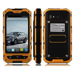 Водонепроницаемый смартфон 3g онлайн-4.0' A8 IP68 прочный Android водонепроницаемый смартфон разблокирован сотовый телефон A8 MTK6582 Quad Core 1 ГБ ОЗУ 8 ГБ старший противоударный смартфон 3G GPS