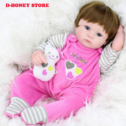 realistische babypuppe silikon Rabatt 45cm volles Vinyl wiedergeborenes Baby-Silikon-neugeborene Puppen-realistische Baby-Puppen für Kindweihnachtsgeschenk geben Verschiffen frei