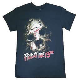 Wholesale Adult Graphics - Friday the 13th Jason Mask Graphic Adult 2017 new High Quality 100% Cotton men's T Shirt cheap sell Free shipping