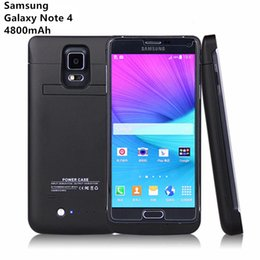 Wholesale Note Charging Case - Battery Charger Case for Samsung Galaxy Note 4 4800mah Power Case Battery Backup Pack Charging Case for Samsung Galaxy