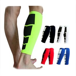 Wholesale compression calf guard - 1PCS Base Layer Compression Leg Sleeve Shin Guard Men Women Cycling Leg Warmers Running Football Basketball Sports Calf Support