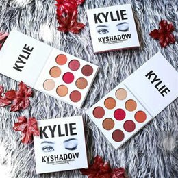 Wholesale Cheap Shimmer Eyeshadow - HOT!KYSHADOW Eyeshadow Kylie Burgundy Eyeshadow Palette 9 Colors Hot Sale Kylie Modified Shimmer Eyeshadow Palette Cheap Price