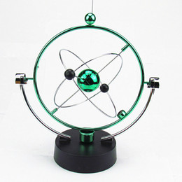 Wholesale Kid Science Kits - Physical Science Toy Magnetic Balance Ball Kinetic Orbital Art Electric Revolving Motion Planet Kit 2 Colors Available