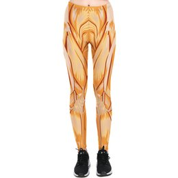 Wholesale Flex Exercise - Yellow muscle pants Flex printing tight Women gym clothing Leggings sport wear Fitness training sportwear Exercise trousers