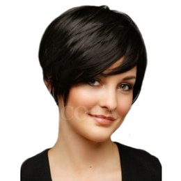 Wholesale Human Haircut - Short Human Hair Brazilian Pixie Human Hair Lace wigs Full Lace None Lace Human HairNew Haircuts Wigs For Black Women