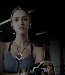 Wholesale Good Sports Necklace - Hot! Bluetooth headset Wireless Sport Headphones Necklace design Stereo Metal Earbud Good Sound Quality BT-30 Universal Cell phone Earphones