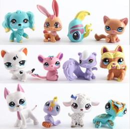 Wholesale Mini Toys Dogs - NEW 12pcs set Action Figures Toys Little Pet Shop Mini Toy Animal Cat dog Pet Collection Action Figures Kids toys kids gifts