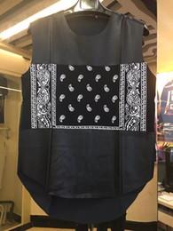 Wholesale Sexy S Curve - Wholesale- Leather Patchwork Bandana Hip Hop Tank Top 2017 Summer New Fashion Curved Hem Punk Tank Tops Men Male Clothes