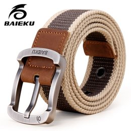 Wholesale Military Standard Colors - New Arrival Fashion Military Belt Outdoor Tactical Belt Men & Women High Quality Belts For Jeans Male Canvas Straps 6 Colors large size