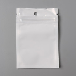 Wholesale Clear Bag Small - Hot- Small 7*10cm White   Clear Self Seal Zipper Plastic Retail Packaging Bag, Ziplock Zip Lock Bag Retail Package W  Hang Hole