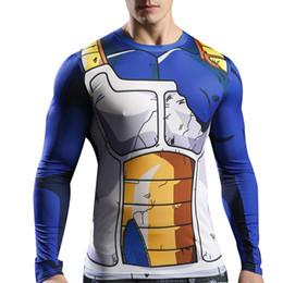 Wholesale T Shirts Halloween Men - 2017 Halloween Cosplay Costumes Men Long Sleeve 3D T Shirt Fitness Compression Shirt M-3XL ZL3456