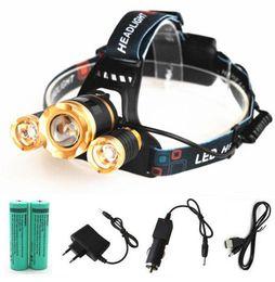 Argentina NUEVO 10000lm XML-3xT6 iluminación al aire libre recargable Zoomable llevó la linterna de la linterna ZOOM faro luz 18650 batería usb cargador de coche Suministro