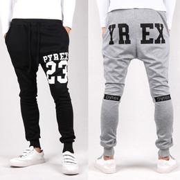 Wholesale Low Crotch Sweatpants For Men - Wholesale-2016 Mens Joggers Pyrex 23 Fashion Low Drop Crotch Harem Pants Trousers Hip Hop Slim Fit Skinny Sweatpants Men For Fashion Dance