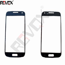 Wholesale S4 Mini New Screen - New Touch Glass For Samsung Galaxy S4 mini For Front Screen Glass Lens White Blue With Free Shipping